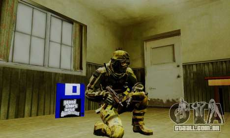 Weapon pack from CODMW2 para GTA San Andreas nono tela