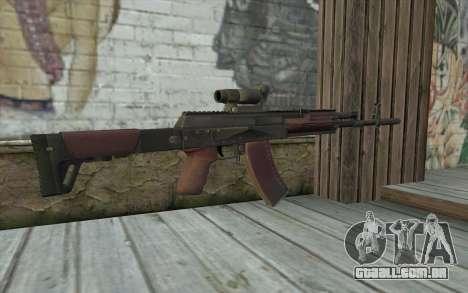 AEK from Battlefield 4 para GTA San Andreas segunda tela