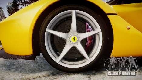 Ferrari LaFerrari [EPM] v1.2 para GTA 4 vista de volta