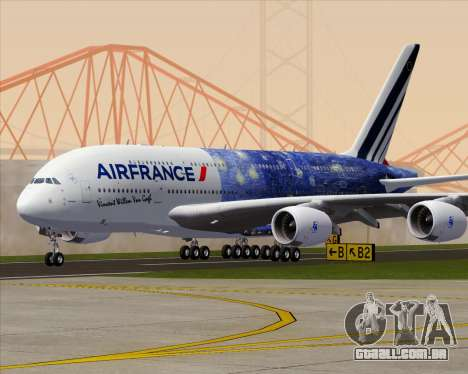 Airbus A380-800 Air France para GTA San Andreas vista inferior