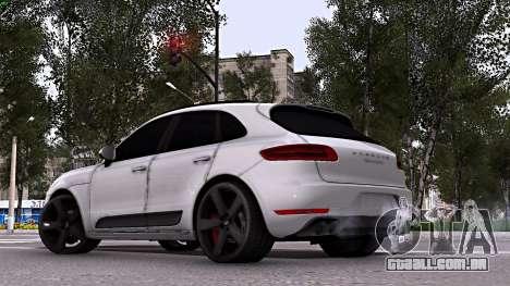 Porsche Macan para GTA San Andreas esquerda vista