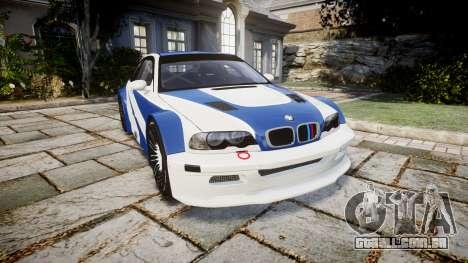 BMW M3 E46 GTR Most Wanted plate NFS Pro Street para GTA 4