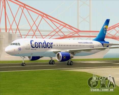 Airbus A320-200 Condor para GTA San Andreas traseira esquerda vista