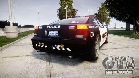 Bravado Buffalo Police LCPD para GTA 4 traseira esquerda vista