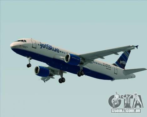 Airbus A320-200 JetBlue Airways para GTA San Andreas traseira esquerda vista