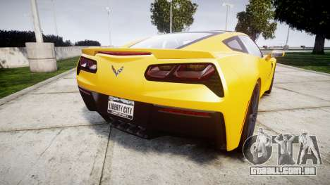 Chevrolet Corvette C7 Stingray 2014 v2.0 TireCon para GTA 4 traseira esquerda vista