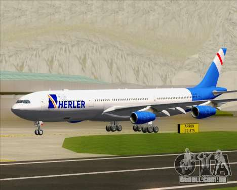 Airbus A340-300 Air Herler para GTA San Andreas esquerda vista