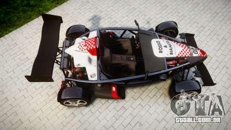 Ariel Atom V8 2010 [RIV] v1.1 Rosso & Bianco para GTA 4 vista direita