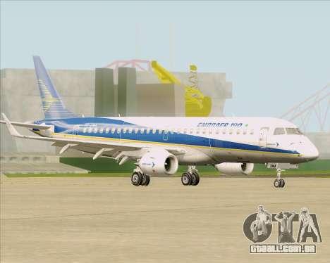 Embraer E-190-200LR House Livery para GTA San Andreas vista interior