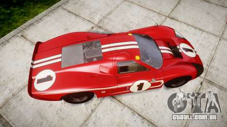 Ford GT40 Mark IV 1967 PJ 1 para GTA 4 vista direita