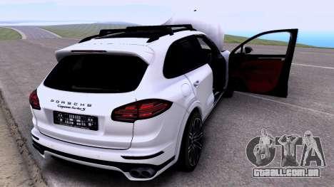 Porsche Cayenne Turbo S GTS 2015 para GTA San Andreas traseira esquerda vista