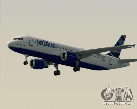 Airbus A320-200 JetBlue Airways para GTA San Andreas vista inferior