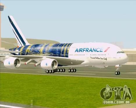 Airbus A380-800 Air France para GTA San Andreas traseira esquerda vista