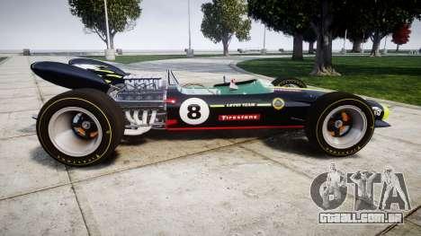 Lotus 49 1967 black para GTA 4 esquerda vista