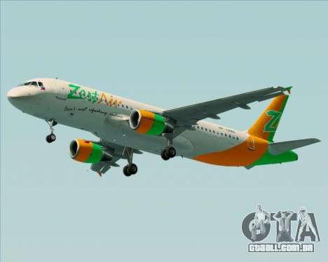 Airbus A320-200 Zest Air para as rodas de GTA San Andreas