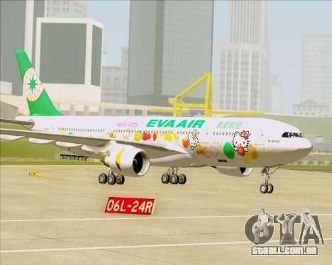 Airbus A330-200 EVA Air (Hello Kitty) para as rodas de GTA San Andreas
