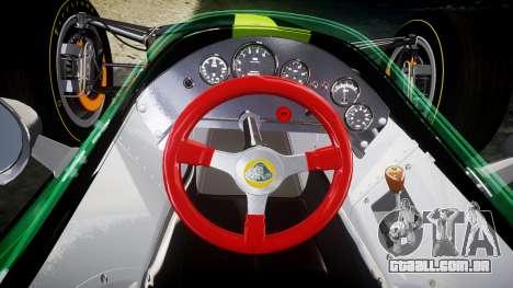 Lotus 49 1967 black para GTA 4 vista de volta
