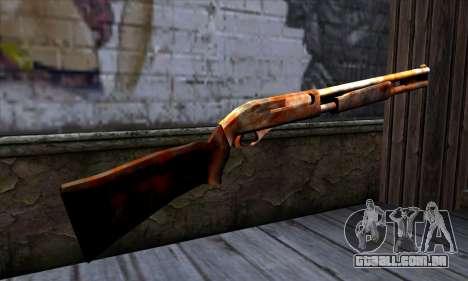 Chromegun v2 Enferrujado para GTA San Andreas segunda tela