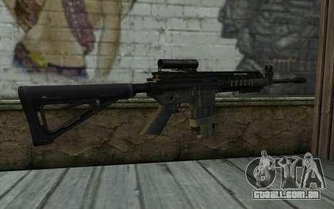 M4A1 from COD Modern Warfare 3 v2 para GTA San Andreas segunda tela