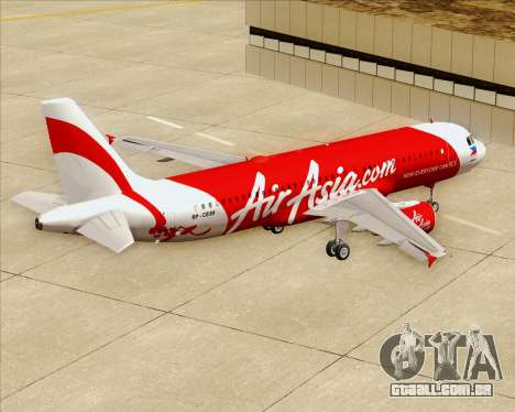 Airbus A320-200 Air Asia Philippines para GTA San Andreas vista inferior