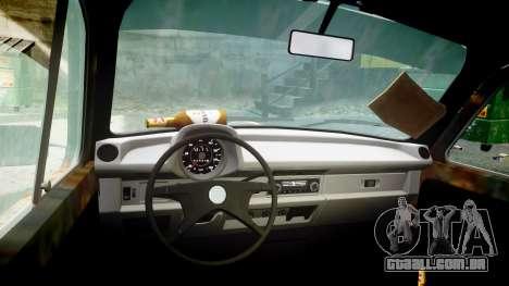 Volkswagen Beetle rust para GTA 4 vista de volta
