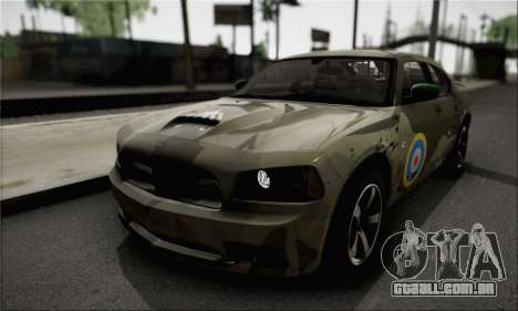 Dodge Charger SuperBee para GTA San Andreas vista interior
