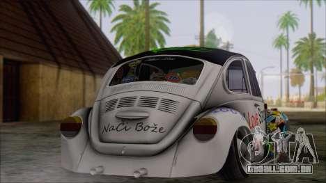Volkswagen Beetle Bosnia Stance Nation para GTA San Andreas esquerda vista