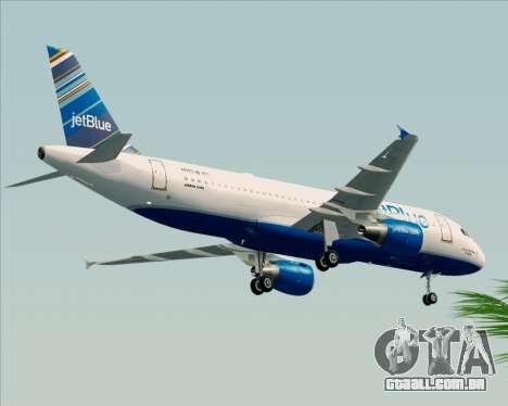 Airbus A320-200 JetBlue Airways para GTA San Andreas vista traseira
