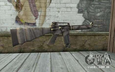 M16A4 from Battlefield 3 para GTA San Andreas segunda tela
