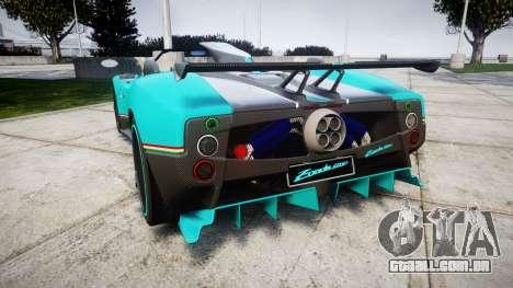 Pagani Zonda Uno para GTA 4 traseira esquerda vista