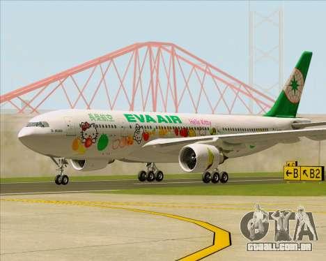 Airbus A330-200 EVA Air (Hello Kitty) para GTA San Andreas esquerda vista