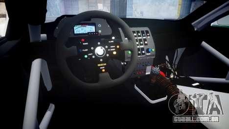 BMW M3 E46 GTR Most Wanted plate NFS Pro Street para GTA 4 vista interior