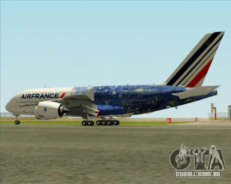 Airbus A380-800 Air France para as rodas de GTA San Andreas