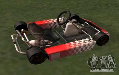 Atualizado Kart para GTA San Andreas para GTA San Andreas esquerda vista