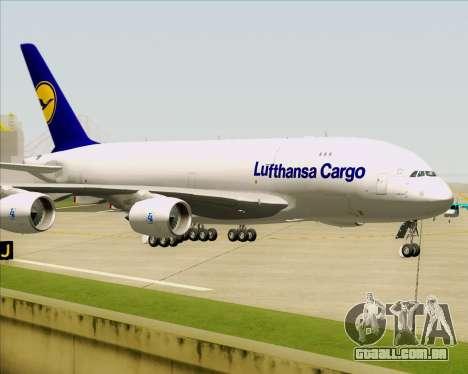 Airbus A380-800F Lufthansa Cargo para GTA San Andreas vista superior