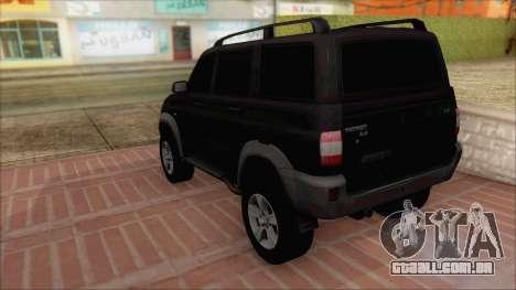 UAZ Patriota para GTA San Andreas esquerda vista
