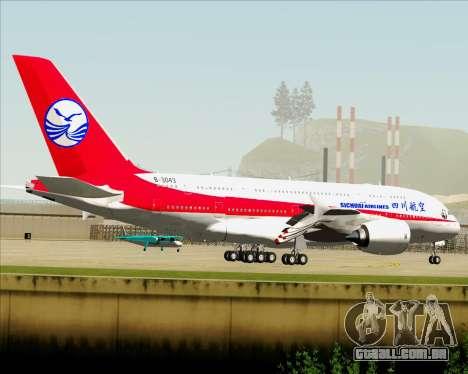 Airbus A380-800 Sichuan Airlines para GTA San Andreas vista direita