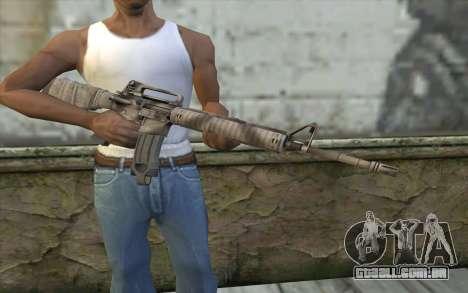 M16A4 from Battlefield 3 para GTA San Andreas terceira tela