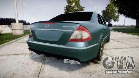 Mercedes-Benz W211 E55 AMG Vossen VVS CV5 para GTA 4 traseira esquerda vista