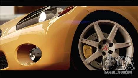 Mitsubishi Eclipse 2006 para vista lateral GTA San Andreas