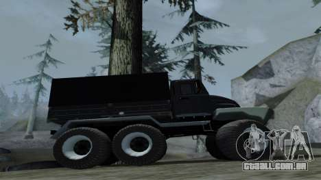 ZIL Kerzhak 6x6 para GTA San Andreas vista traseira