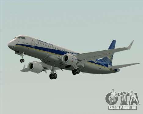Embraer E-190-200LR House Livery para vista lateral GTA San Andreas