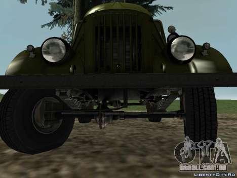 GAZ-69 para GTA San Andreas traseira esquerda vista