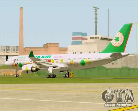 Airbus A330-200 EVA Air (Hello Kitty) para GTA San Andreas vista traseira