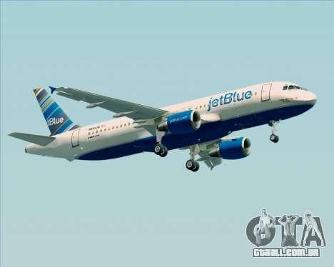 Airbus A320-200 JetBlue Airways para GTA San Andreas vista direita