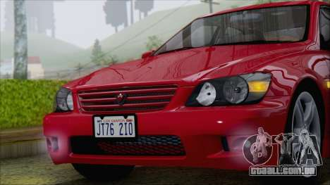 Toyota Altezza (RS200) 2004 (IVF) para GTA San Andreas vista traseira