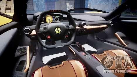 Ferrari LaFerrari [EPM] v1.2 para GTA 4 vista interior