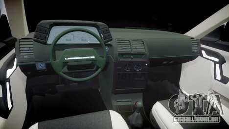 UTILIZANDO-2112 hobo para GTA 4 vista interior
