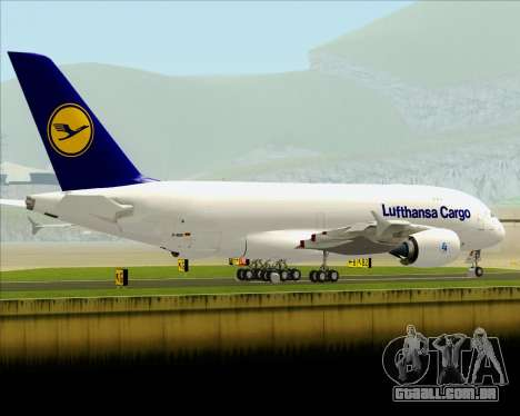 Airbus A380-800F Lufthansa Cargo para vista lateral GTA San Andreas