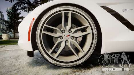 Chevrolet Corvette C7 Stingray 2014 v2.0 TireKHU para GTA 4 vista de volta